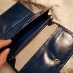 Compagnon bleu canard poches papiers et porte monnaie